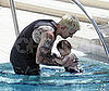 Photo of Joel Madden Teaching Harlow Madden to Swim