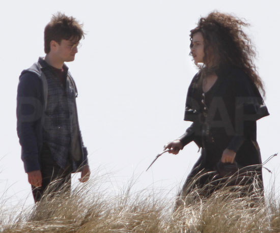 Photo Slide of Helena Bonham Carter and Daniel Radcliffe Filming Harry Potter and the Deathly Hallows: Part I