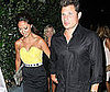 Photo Slide of Vanessa Minnillo and Nick Lachey Leaving LA's My House