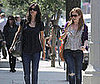 Slide Photo of Courteney Cox and Isla Fisher Getting Lunch at Joan's on Third in LA