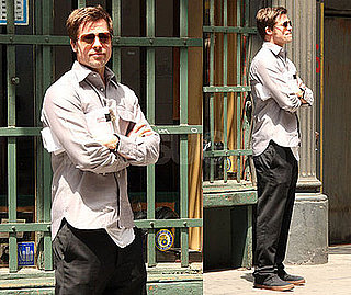 Photos of Brad Pitt Looking Hot In NYC Before Heading to Cannes