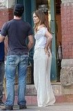 Jennifer Lopez on Set