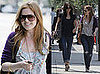 Photos of Isla Fisher Dining with Courteney Cox; Courteney Cox Out with Husband David Arquette
