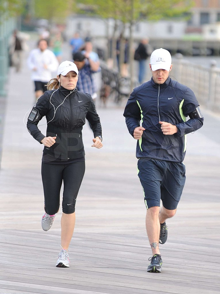 Justin and Jess Running in NYC