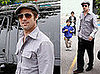 Photos of Brad Pitt, Maddox Jolie-Pitt, Pax Jolie-Pitt in NYC