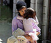 Photo Slide of Katie Holmes Carrying Suri Out of a Dance Class in LA
