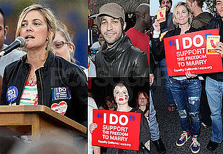 Photos of Drew Barrymore, Pete Wentz, Kelly Osbourne at a Prop 8 Rally in LA