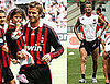 Photos of David Beckham Playing Soccer at Milan