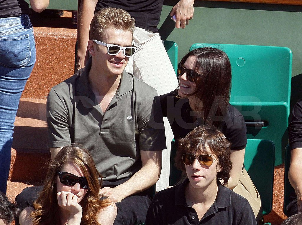 Eva, Tony, Hayden and Rachel at the French Open