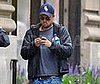Slide Photo of Leonardo DiCaprio Walking in NYC with his Phone