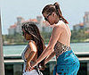 Photo of Khloe and Kourtney Kardashian on a Boat in Miami