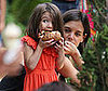 Photo Slide of Katie Holmes and Suri Cruise At th eGrove in LA