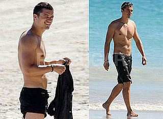 Photos of Orlando Bloom Shirtless on the Beach