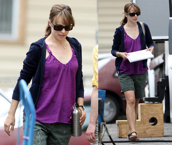 Rachel McAdams on Set