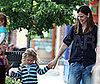 Photo Slide of Jennifer Garner and Violet Affleck in Boston