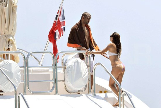 Bikini Eva Longoria and Shirtless Tony Parker