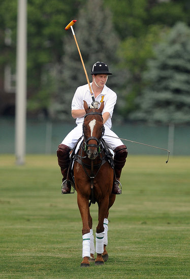 Prince Harry Plays Polo While Stars Watch