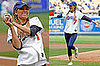 Photos of Lauren Conrad Throwing First Pitch at Dodgers Game