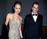 Angelina Jolie was married to Jonny Lee Miller from 1996 to 1999 after meeting him on the set of Hackers. They attended the Golden Globe Awards together in January 1999.