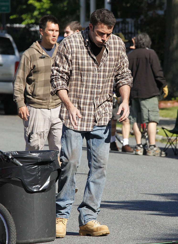 Ben Affleck on Set