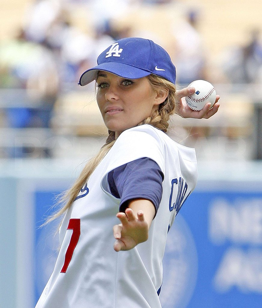Lauren Conrad at Dodgers Game