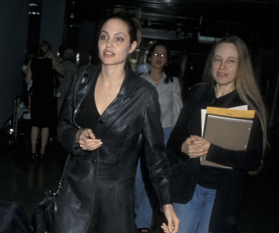 Angelina Jolie was close with her mother, Marcheline Bertrand, all her life. They were spotted together at LAX in August 1998.