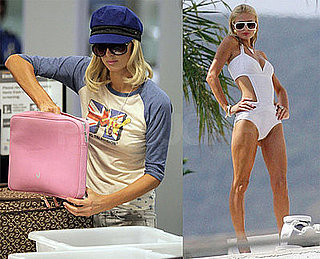 Photos of Paris Hilton Posing in a Swimsuit To Shoot a Commercial For Dreamcatchers