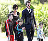 Photos of David and Victoria Beckham With Their Sons Romeo, Cruz, and Brooklyn Arriving in France