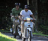 Photo Slide of George Clooney Riding His Scooter Near Lake Como, Italy