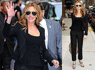 Photos and Video of Julia Roberts on the Late Show with David Letterman