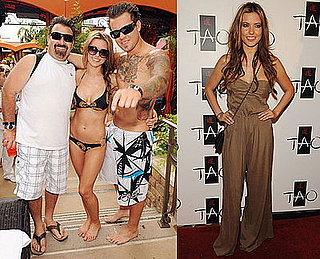 Bikini Photos of Audrina Patridge With Her Father and Brother at Tao in Las Vegas