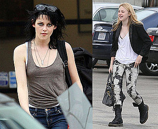 Photos of Kristen Stewart and Dakota Fanning Filming The Runaways, Video with New Moon Footage, Robert Pattinson Interview