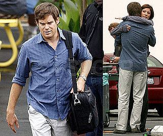 Photos of Michael C. Hall Filming Dexter Season Four