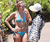 Slide Photo of Kristen Bell in Bikini in Hawaii