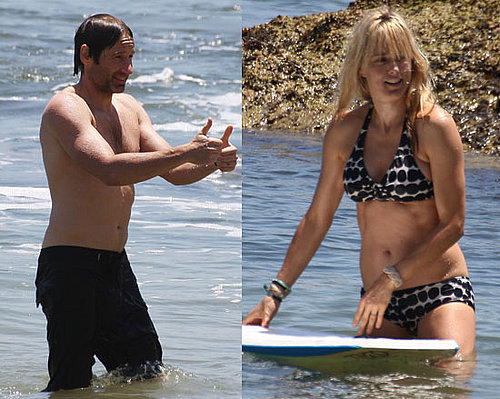 Photos of David Duchovny and Tea Leoni Spending Father's Day Together in Malibu