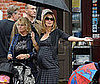Slide Photo of Pregnant Heidi Klum Walking in NYC With An Umbrella