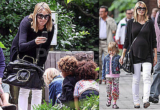 Photos of Pregnant Heidi Klum Leaving NYC's Bar Pitti; Sightseeing with Kids Leni, Henry and Johan