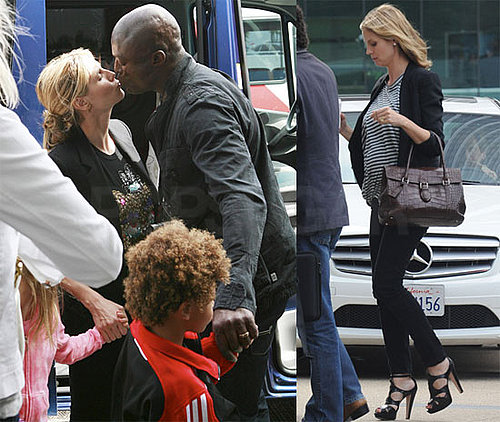 Photos of Pregnant Heidi Klum, Seal, Leni, Johan, Henry at Airport, Karl Lagerfeld Had Harsh Words About Couple