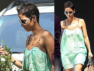 Photos of Halle Berry Wearing a Green Dress in LA