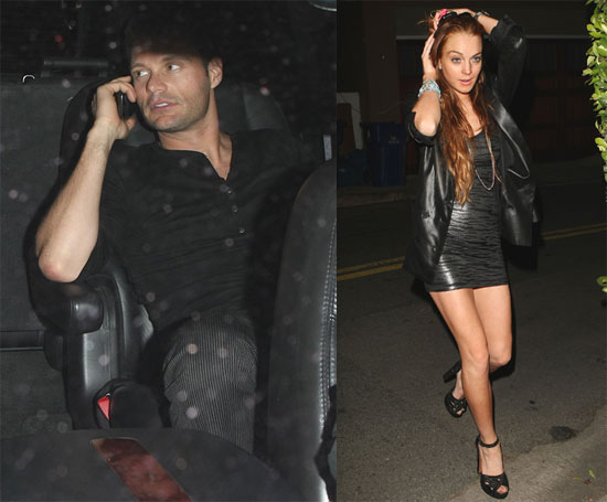 Lindsay and Seacrest Party Together