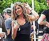 Slide Photo of Jennifer Aniston on Set of Bounty Hunter in Atlantic City in Pretty Dress
