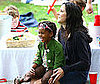 Photo Slide of Mary-Louise Parker and Her Daughter at a Birthday Party