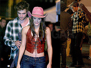 Photos of Robert Pattinson Filming Remember Me in NYC With Cowgirls