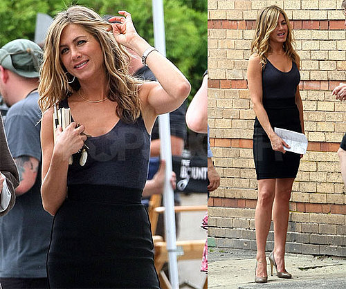 Photos of Jennifer Aniston on the Set of The Bounty in Atlantic City