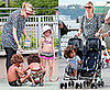 Photos of Pregnant Heidi Klum with Kids Henry, Johan and Leni Playing in NYC