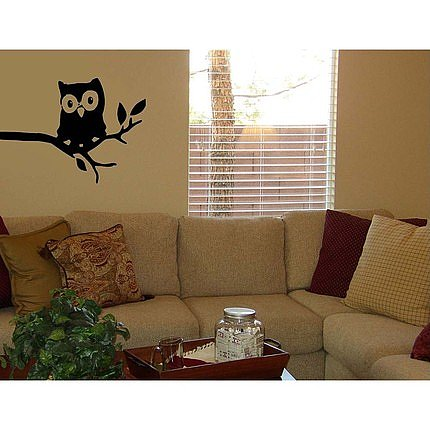 Owl in Tree Vinyl Wall Decal ($22) 