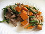 Sweet-Potato Beef Stir-Fry