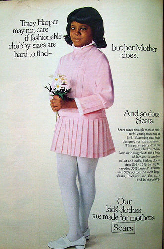 Vintage Sears Ad For Chubby Sizes