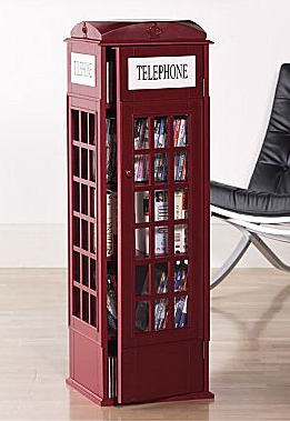 Red Phone Booth Media Cabinet Is $200 From JC Penney