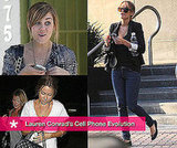 Lauren Conrad With Her BlackBerry Cell Phone